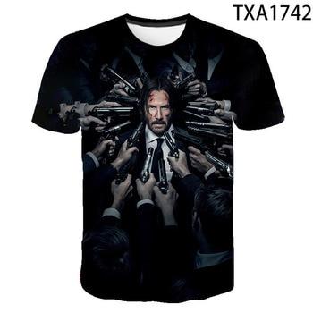 2020 New Summer Movie John Wick  3D T shirt Men Women Children Fashion Streetwear Boy Girl Kids Printed T-shirt Cool Tops Tee 1