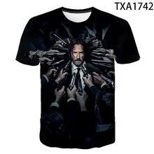 2020 novo filme de verão john wick 3d t camisa das mulheres dos homens crianças moda streetwear menino menina crianças impresso camiseta legal topos t