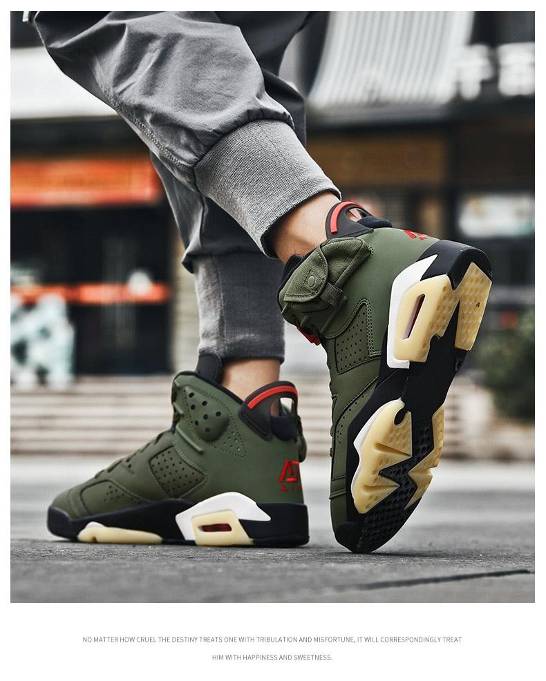 Высокие баскетбольные кроссовки Для Мужчин's амортизацию светильник Повседневное выходная обувь, сникерсы, Мужская дышащая спорт на открыт...