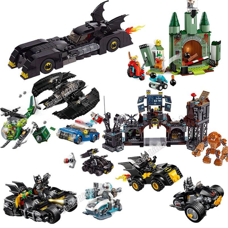 NEW Marvel Legoinglys Batman Super Hero Joker Lowrider Penguin Classic Robbin Car Legoinglys Christmas Building Blocks Toys