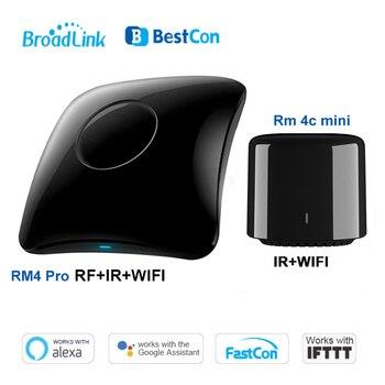 цена на 2020 Broadlink RM4 pro/ RM4C Mini Smart Home WiFi IR/RF Remote Controller Automation Modules work with Alexa amazon Google Home