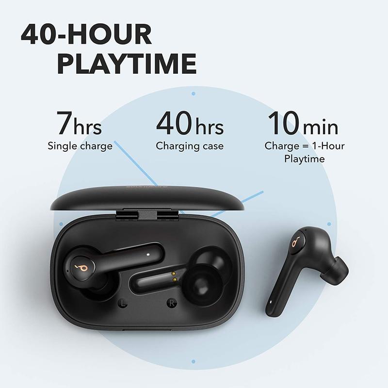 Anker Soundcore Life P2 TWS True Wireless Earphones with 4 Microphones, CVC 8.0 Noise Reduction, 40H Playtime, IPX7 Waterproof 3