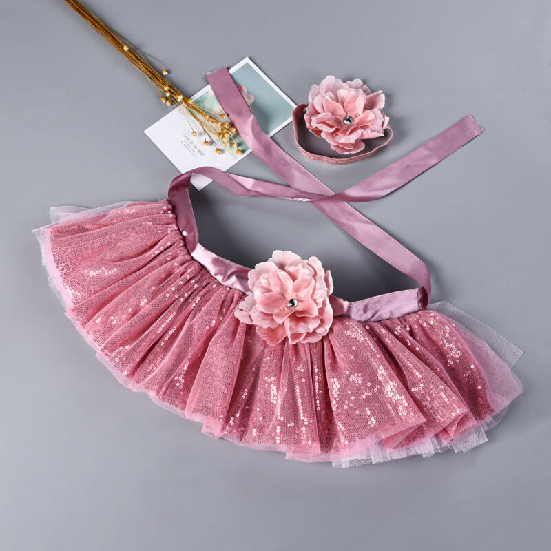 Newborn Baby Girl Tutu Skirt Dress Headband Photo Photography Prop Outfit Cute
