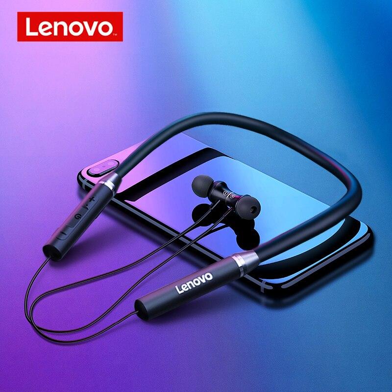 Lenovo Earphones Bluetooth Wireless Stereo Sports IPX5 Waterproof Sport Earbud Headset Noise Reduction Magnetic Runing Headset Bluetooth Earphones & Headphones    - AliExpress