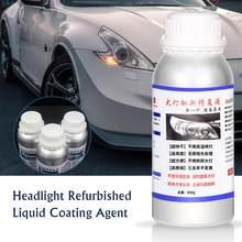 800ml kit de restauração farol do carro polonês abrilhanter para lentes da lâmpada cabeça limpa profunda luz líquido reparação