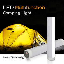 5V USB Rechargeable Magnet Emergency SOS Flashlight 200mm LED T6 tube 5 Model dimmable Outdoor Portable LED Campping Torch Lamp
