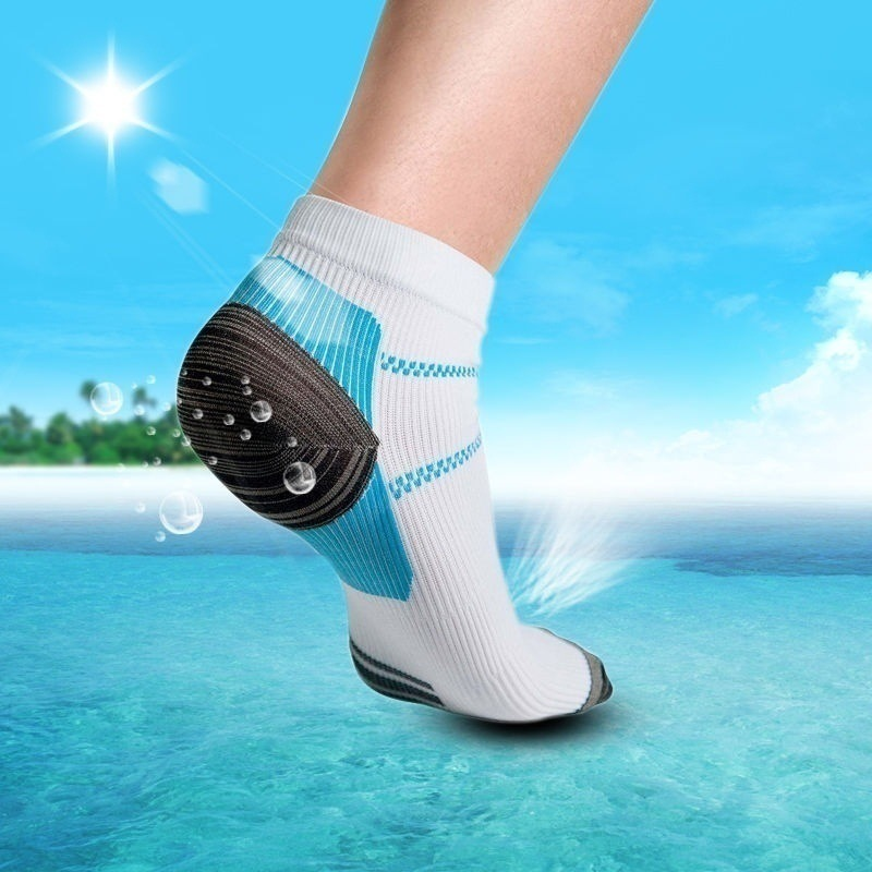 1pair Sports Socks Miracle Foot Compression Sock Anti-Fatigue Breathable Plantar Fasciitis Heel Arch Pain Relieving Sports Socks