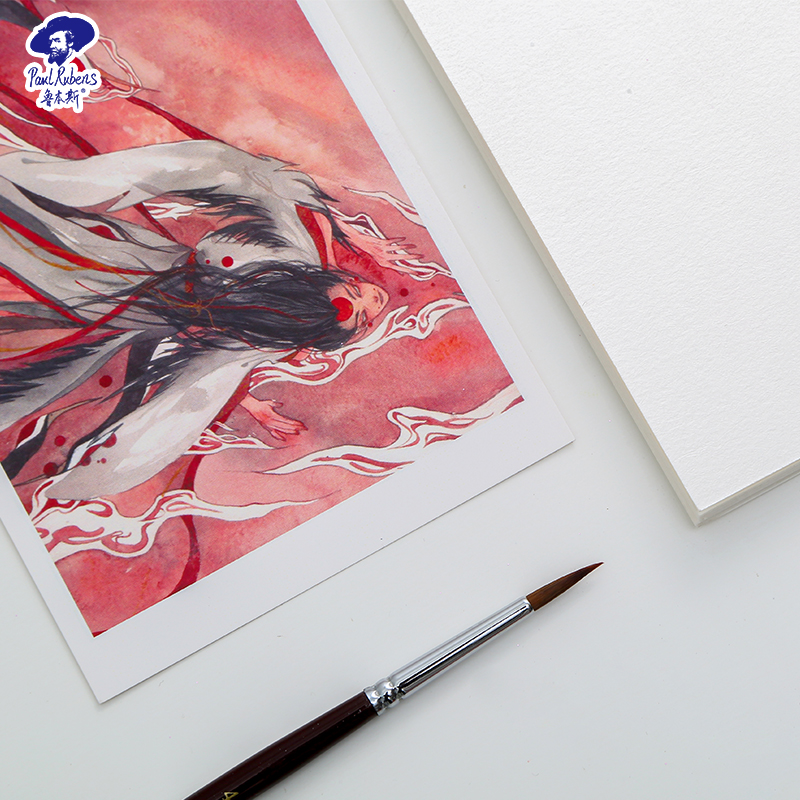 Paul Rubens Watercolor Paper Professional 50% Cotton 300g/m2 10 Sheets Hand Painted Drawing Sketch For Student Artist Stationery