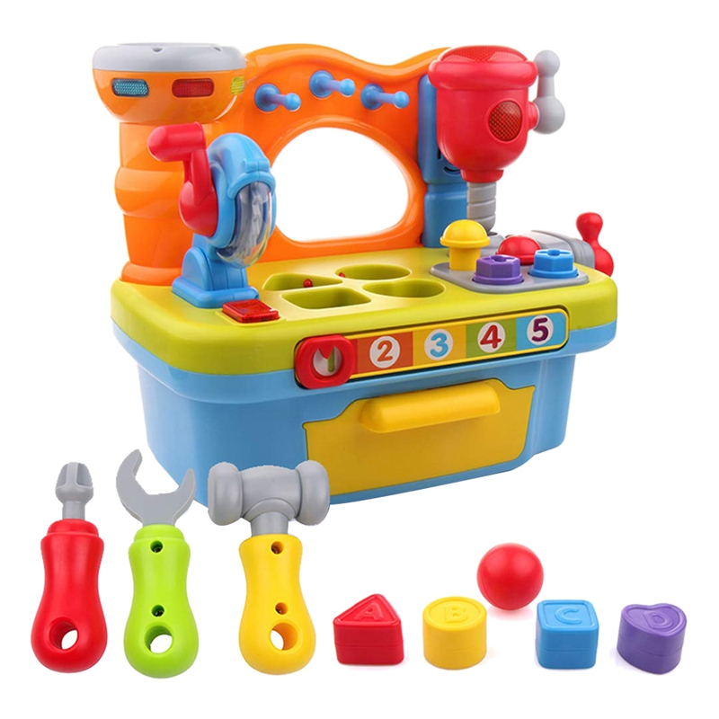 Hot-Multi-Tool Table Small Engineer Tool Workbench Education Shape Sorter Nut Combination Disassembly Boy Children'S Educational