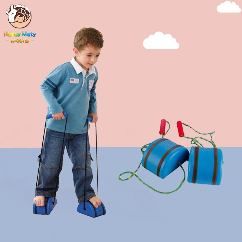 1 Pair Stilts Children Outdoor Plastic Balance Training Big Jumping Shoes Walker Educational Fun Sport Toys Gift For Kids