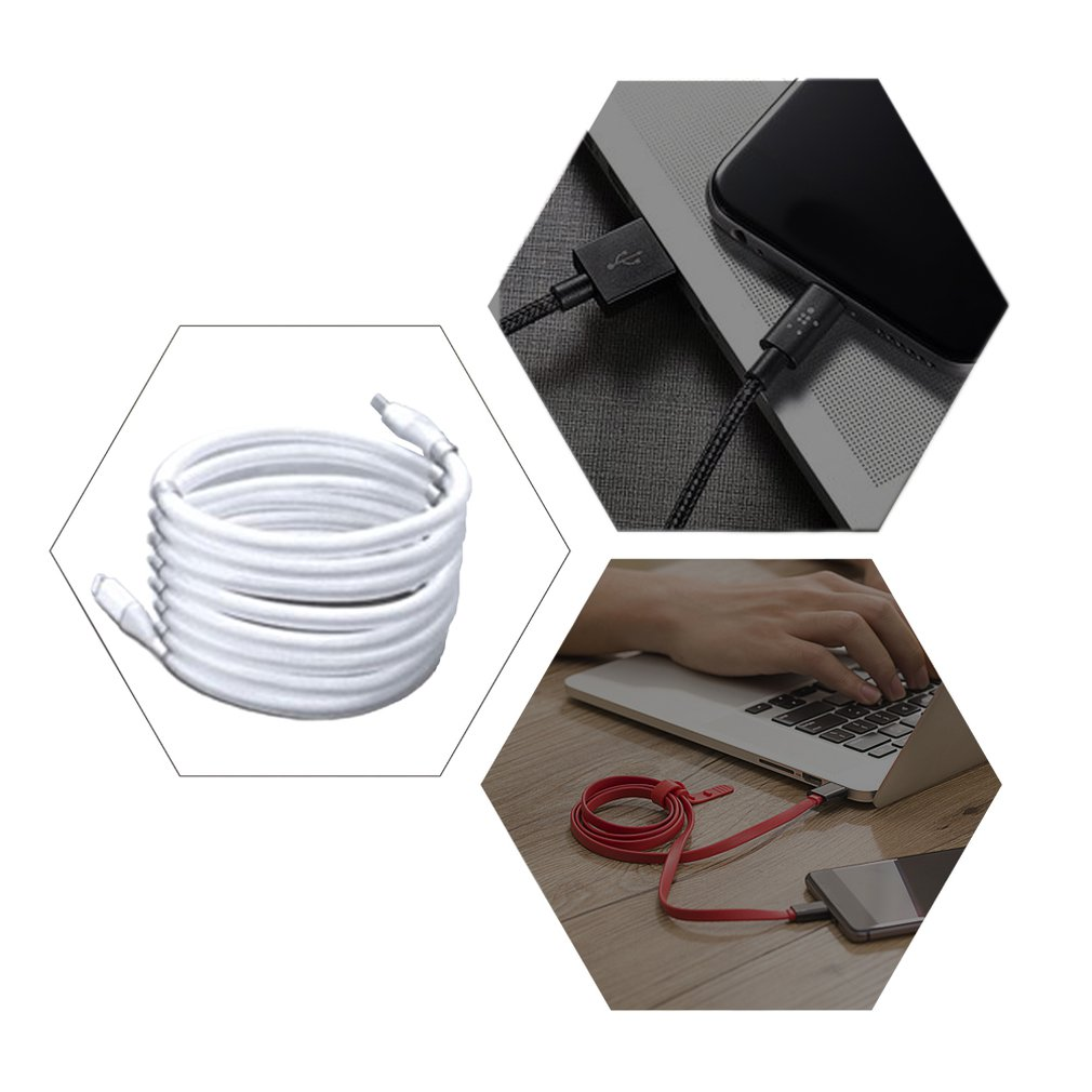 2A Magic Rope cable for iPhone and Type C retract automatically