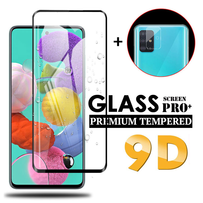 2in1 9D Screen Protector Glass & Camera Lens Protective Glass For Samsung Galaxy A51 A71 A51 A71 A 51 71 Tempered Protector Glas