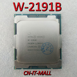 Getrokken Xeon W-2191B Cpu 2.3 Ghz 24.75M 18 Core 36 Threads LGA2066 Processor