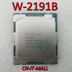 Pull Xeon W-2191B CPU 2,3 ГГц 24,75 м 18 ядер 36 потоков процессор LGA2066