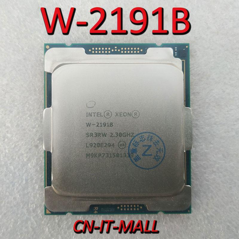 Pulled Xeon W-2191B CPU 2.3GHz 24.75M 18 Core 36 Threads LGA2066 Processor