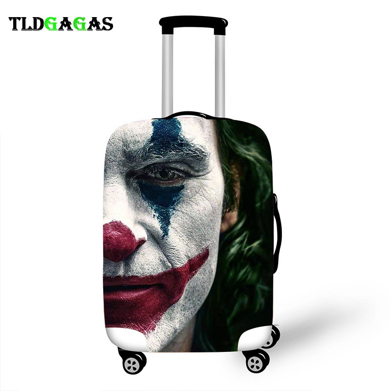 Joker Pattern Elastic Luggage Protective Cover Case For Suitcase Protective Cover Trolley Cases Covers Xl Travel Accessories 3D