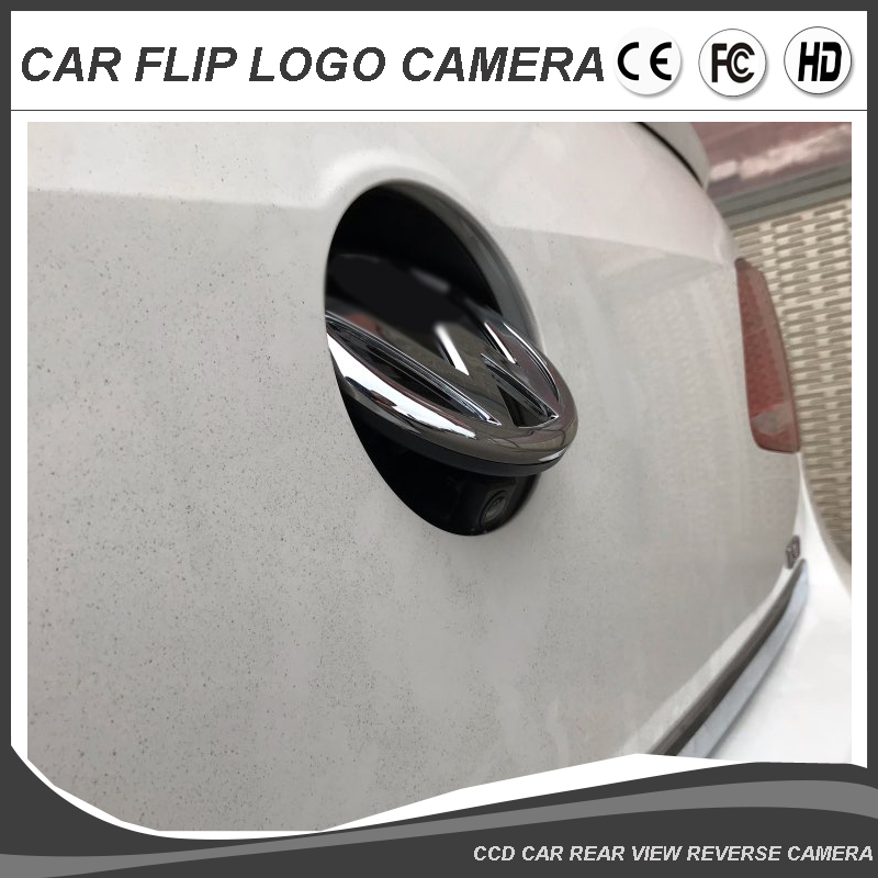 Free Shipping VW Logo CCD HD Camera For Volkswagen Car Rear View Camera Passat CC Golf Phaeton Emblem Flipping Reverse Camera