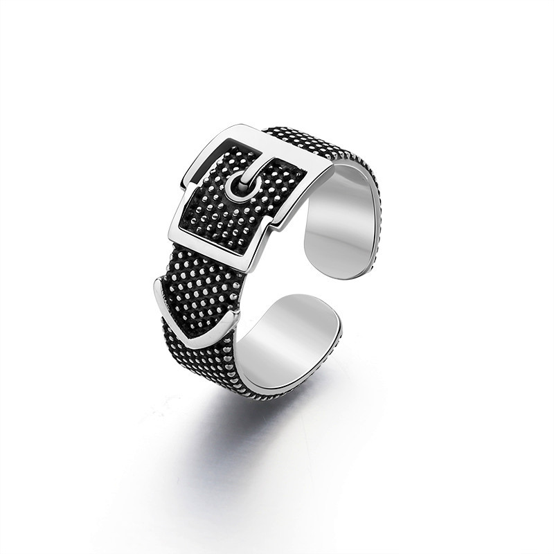 Vintage Silver Color  Belt Rings For Women Statement Jewelry Finger Ring anillos mujer bijoux 2