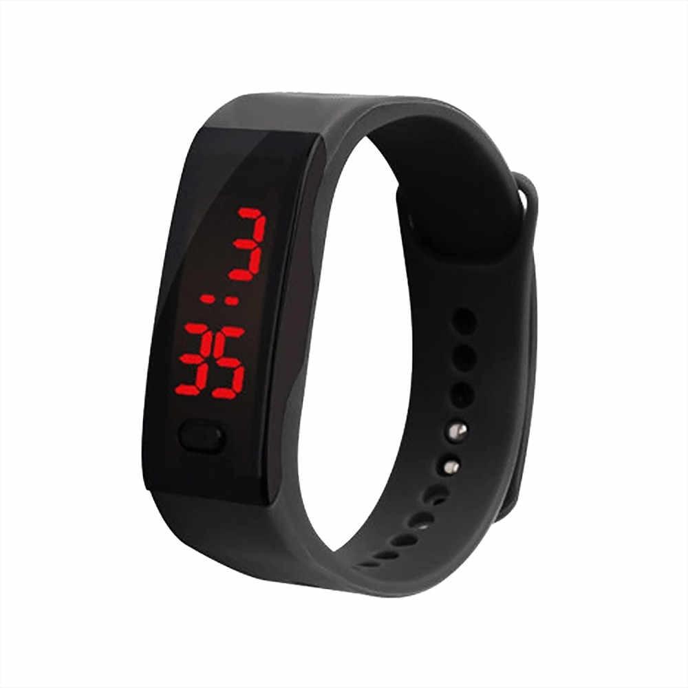 LED display digital pulseira de relógio casal unisex silicone relógio eletrônico esportes relógio eletrônico relógio eletrônico часы 50%