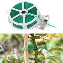 Krawat ogrodowy z torbą drut z tworzywa sztucznego linia wiążąca rośliny kwiat ogórek Grape Rattan Holder szklarnia narzędzia ogrodowe tanie tanio Wikliny