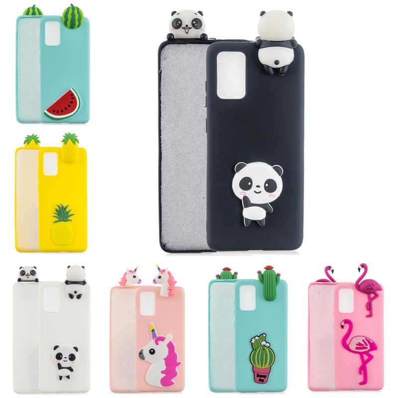 3D Cute Panda Unicorn Cactus Silicone Phone Case on for Huawei P30 P40 Pro P8 P9 Lite 2017 P10 P20 P30 P40 Lite Case Women Child