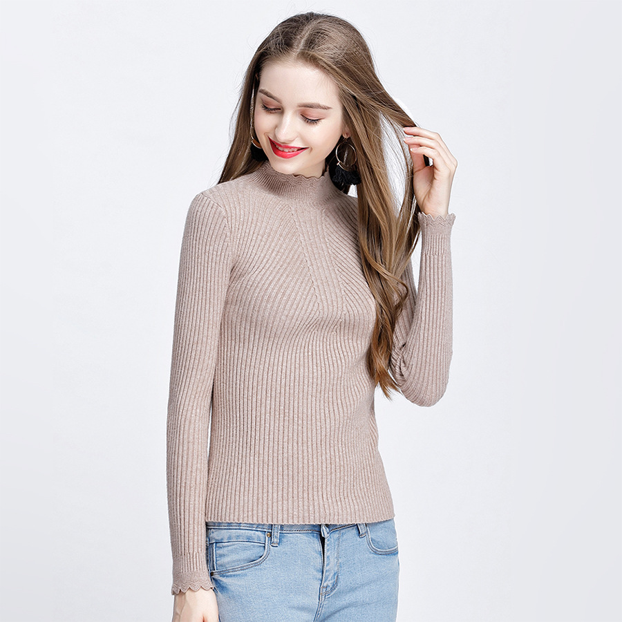 HLBCBG Autumn Winter Warm Sweater Women Pullovers Full Sleeve Knitted Tricot Top Essential Jumper Long Sleeve Sweaters Pull