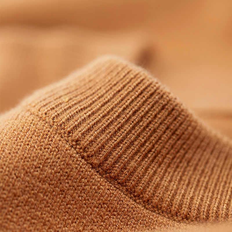KUEGOU 2020 가을 흰색 검정색 일반 스웨터 남성 풀오버 캐주얼 슬림 점퍼 남성복 브랜드 니트 플러스 사이즈 의류 8922