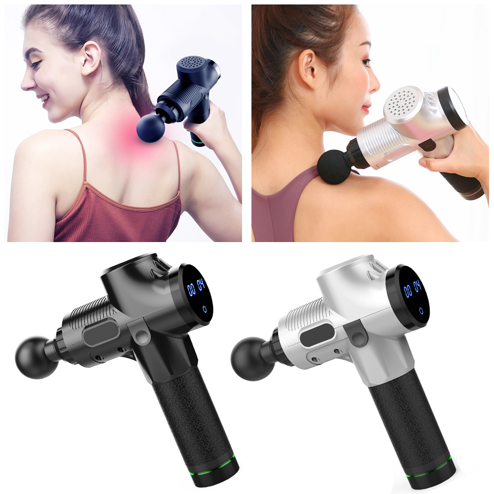 Myofascial Physiotherapy Instrument Mute Touch Screen Fascia Gun Massage Gun Electric Warp Film Impact Relax Gun Deep Massager