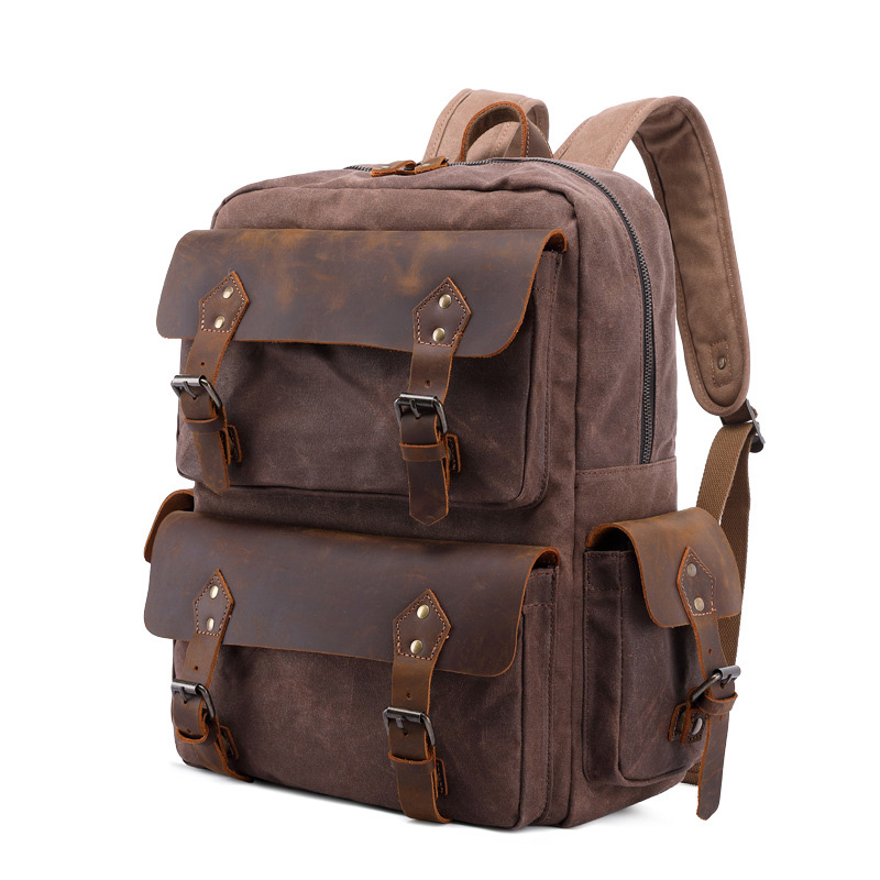 Korean Fashion Shoulder Bag Men Leisure Canvas Business Bag Riding Camping Bags