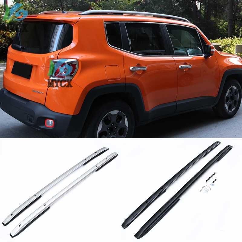 New Arrival Roof Rack Roof Rail Roof Bar Luggage Bar For Jeep Renegade Thick Aluminum Alloy.2015 2018+|Bumpers| |  - title=