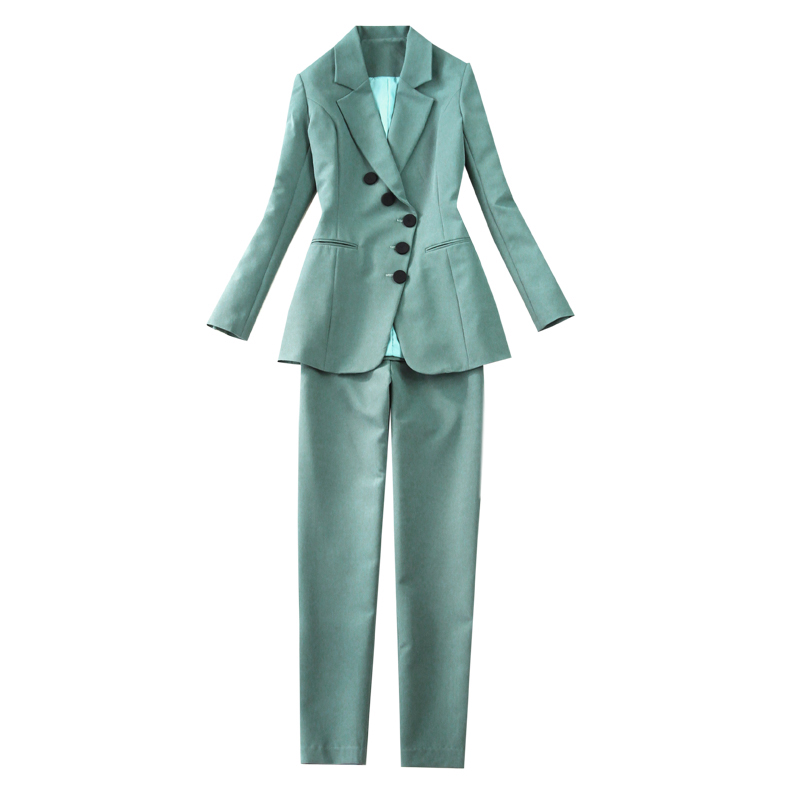 Temperament Women's Pants Suits Set Elegant women's blazer for spring and autumn 2020 Fashion trousers two-piece office workwear