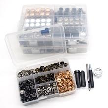 Одна коробка кнопки+ 4 инструменты металлические кнопки застежки для шитья кожевенное ремесло одежда сумки Браслет ремень