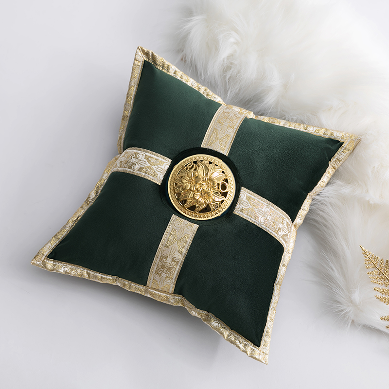 Faux Fur Shaggy Plush Gold Velvet Cushion Pillow Home Decorative Sofa Chair Pad Seat Throw Pillows Outdoor Cushions Floor Pillow