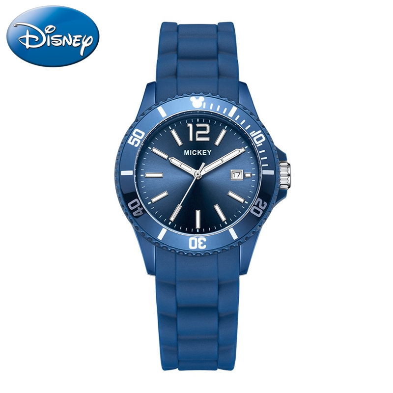 Mickey Mouse Teen Quartz Watches Children Calendar Silicone Band Waterproof Watch Disney Girls Boys Gift Student Luminous Clocks