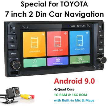 7Android 9.0 Universal Car GPS Radio Player For Toyota Terios Avanza Echo Rush Allion Bluetooth 4G WIFI DVR MAP With Camera image