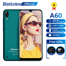 Blackview A60 スマートフォン 4080 mah 1 ギガバイト + 16 ギガバイトクアッドコアアンドロイド 8.1 6.1 インチ 19.2:9 スクリーン 13.0MP デュアルリアカメラ 3 グラム携帯電話