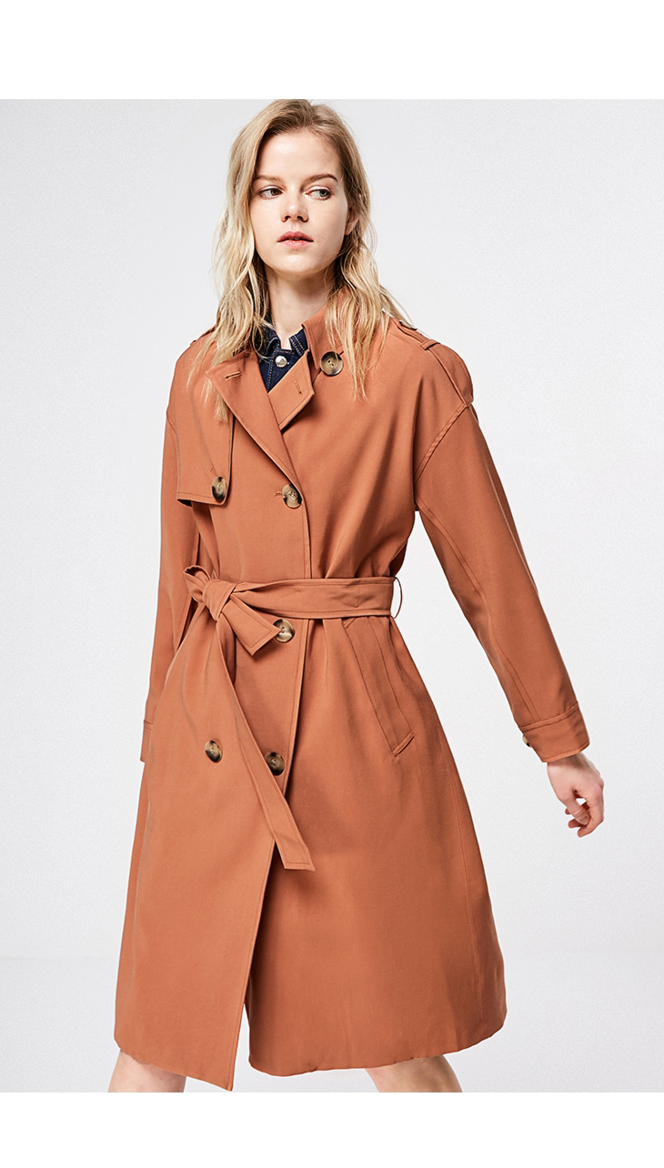 ONLY 19 Women's Loose Fit Long Wind Coat |119136568 8