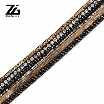 DIY Rhinestone Flat PU Leather Rope and Rope Craft Jewelry Search Results Accessory Bracelet Fashion Jewelry Making Materials image