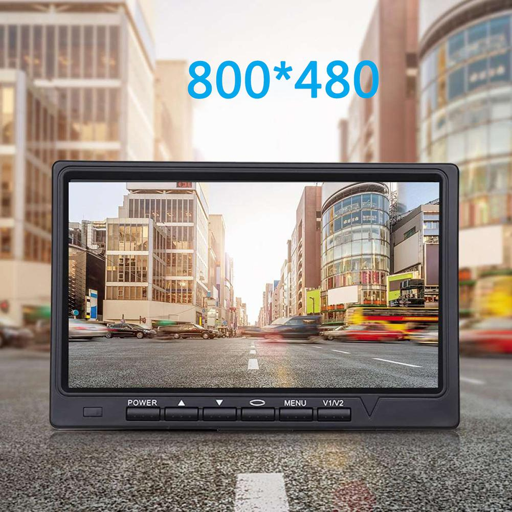 HiMISS 7 Zoll Auto Monitor 800*480 TFT Farbe LCD Bildschirm Auto Parkplatz System Monitor Für Auto Reverse