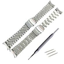 Bracelets de rechange en acier inoxydable bracelet de montre, bout incurvé, 22mm, pour Seiko SKX007 SKX009 SKX011, pour bracelet de montre à monter soi même