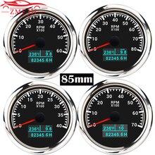 85mm rpm tacômetro calibre 3 em 1 multifunction tacho medidor com temperatura de água pressão do óleo hora 3000/4000/6000/8000 rpm tacho medidor