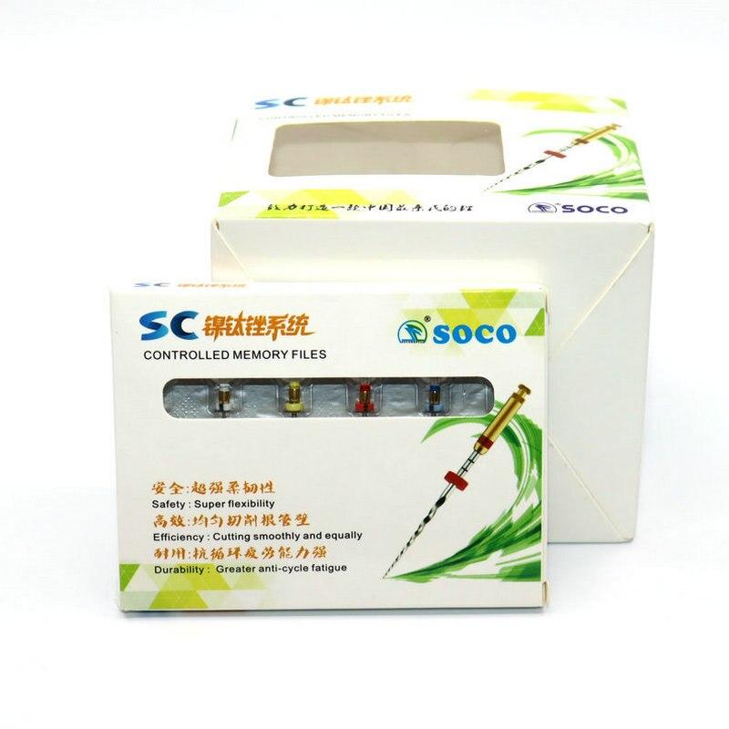 Arquivos rotativos dentários de soco 21mm 25mm sc pro niti sistema de arquivo sortido verde embalagem arquivos canal raiz estomatologia