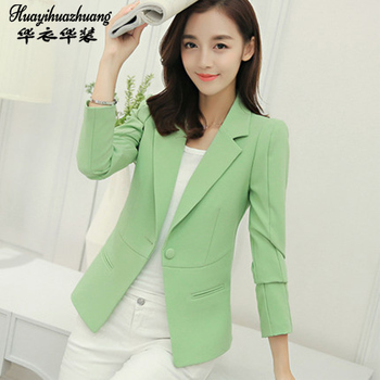 Autumn Winter 2020 Women Formal Office Work Uniform Business Jacket singleton Blazer Suit Female image