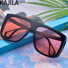 New Arrival 2019 Square Steampunk Sunglasses Women Brand Designer Black Red with Large Frame Sun Glass Ladies 0467