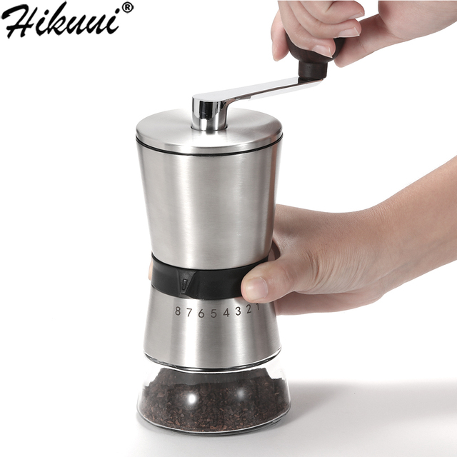 75g Manual Coffee Grinder Stainless Steel Ceramic Precision 8 Adjustment Brewing Coffee Mill,Coffee Bean Grinder 1