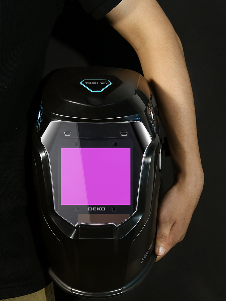DEKO Helmet Skull Welding-Lens MMA MIG Auto Darkening Electric Range Solar Adjustable