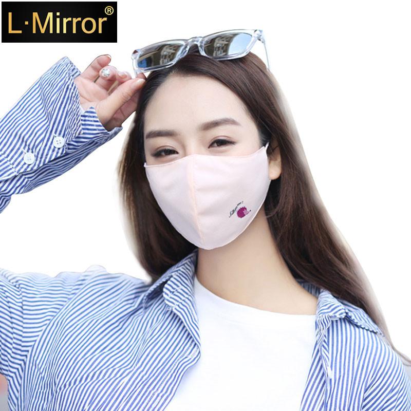 L.Mirror 1PCS Cotton  Girls Mouth Face Mask Hedgehog Muffle Face Mouth Masks Dustproof Antibacterial Washable  Reusable Comfy Ma