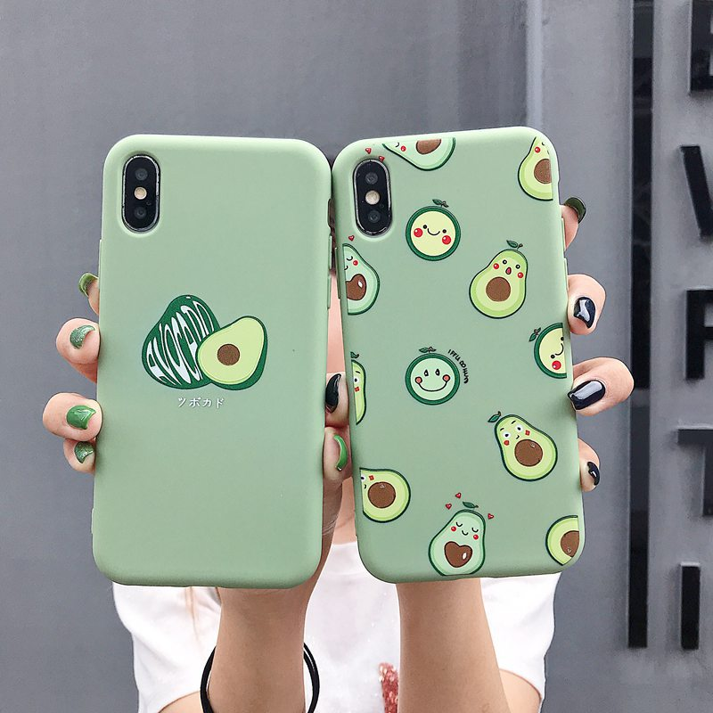Matte Phone <font><b>Cases</b></font> For <font><b>iPhone</b></font> 11 Pro 6 6S 8Plus X XR 7Plus XS Max Cute Avocado Funny <font><b>Dinosaur</b></font> Soft Silicone Candy <font><b>Case</b></font> Capa Coqua image
