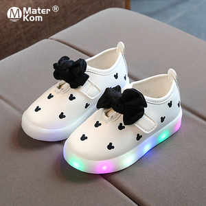 Size 21-30 Children's LED Lamp Light Shoes Girls Luminous Sneakers Brand Kids Casual Shoes Spring Summer Baby Girl Sneakers(China)