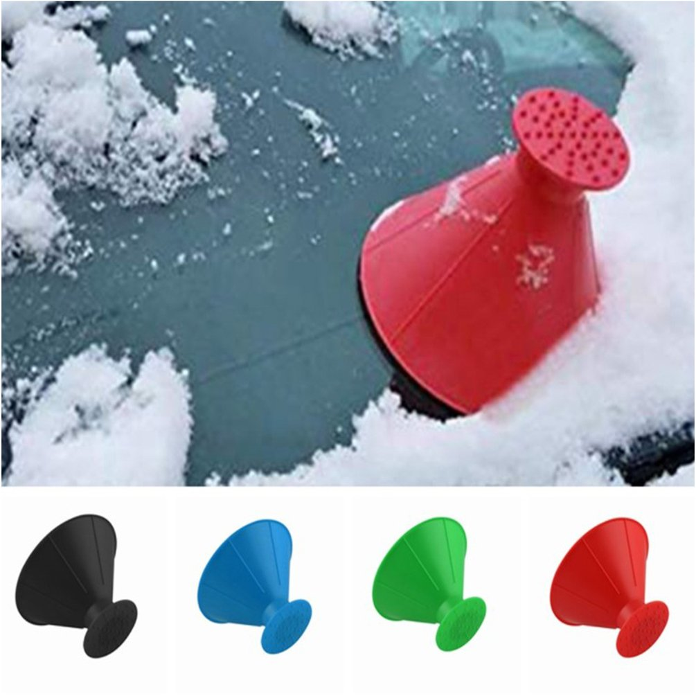 Big Funnel + Go Ice Cover Car Snow Shovel Car Supplies Winter Plastic Snow Scraping Funnel Scrape A Round Cone Large Funnel